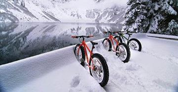 Катание на велосипеде зимой: основы и правила
