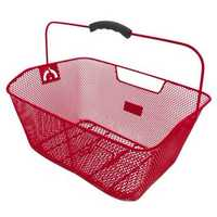 Корзина  M-WAVE на багажник (красная)