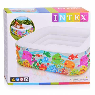 Надувной бассейн Intex Аквариум 159х159х50см. 57471