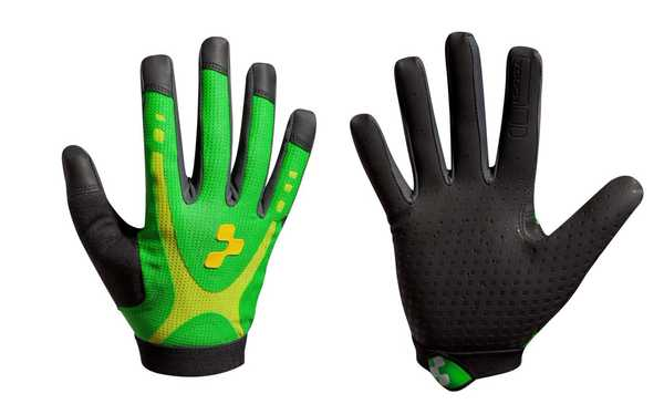 Велоперчатки Cube GLOVES RACE TOUCH L/F  green/lime