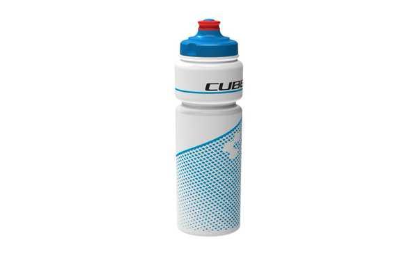 Фляга CUBE BOTTLE 0.75L ICON TEAMLINE white/blue
