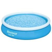 Бассейн надувной BestWay Fast Set 366х76 с фильтр-насосом (57274)