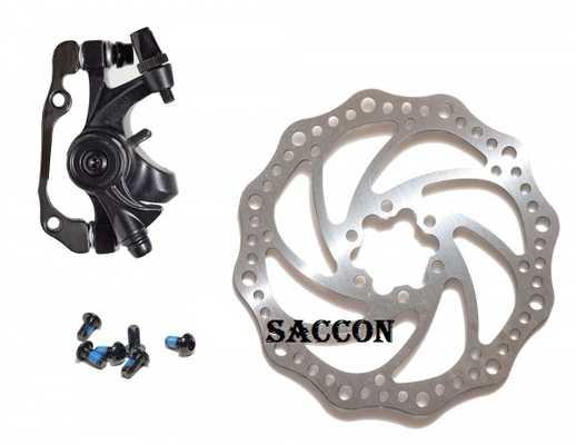 Тормоз с калипером SACCON + Тормозной рото 160 мм
