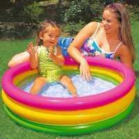 Детский бассейн Intex с надувным дном Радуга 86*25 см. 58924