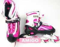Роликовые коньки Ausini Amigo 203 (розовые)