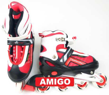 Роликовые коньки Ausini Amigo 203 (красные)