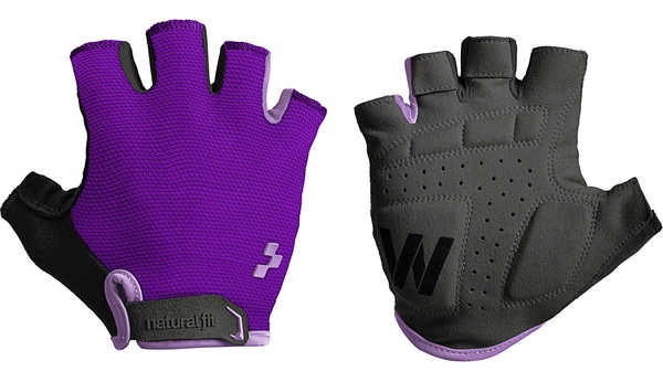 Велоперчатки Cube Natural Fit WLS Bike Gloves purple/black