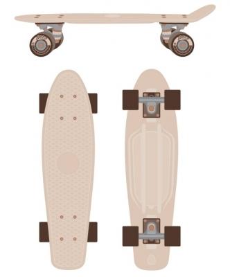 Пенниборд (скейтборд) RIDEX Cream