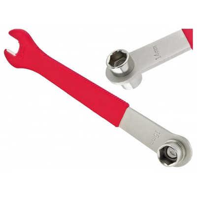 Ключ рожковый на 15 мм + головки 14 и 15 мм